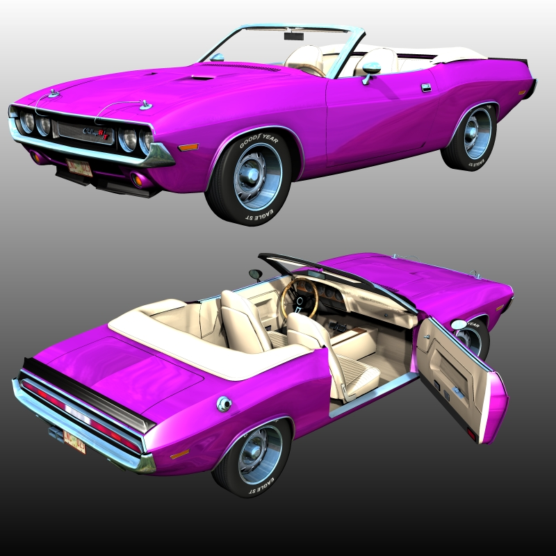 DODGE CHALLENGER 1970 CONVERTIBLE (for POSER)