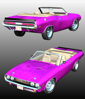 DODGE CHALLENGER 1970 CONVERTIBLE (for POSER) 3D Models 3DClassics