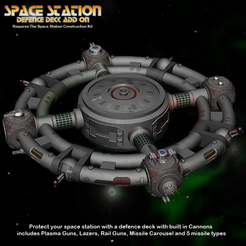 Defence Deck for Space Station Construction Kit