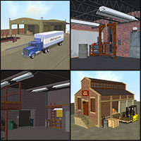 Industrial Strength Poser Combo Set Themed Props/Scenes/Architecture Transportation Richabri