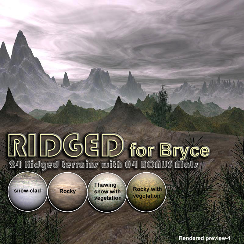 RIDGED for Bryce