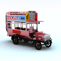 1910 B Type Bus (for Vue) 3D Models Digimation_ModelBank