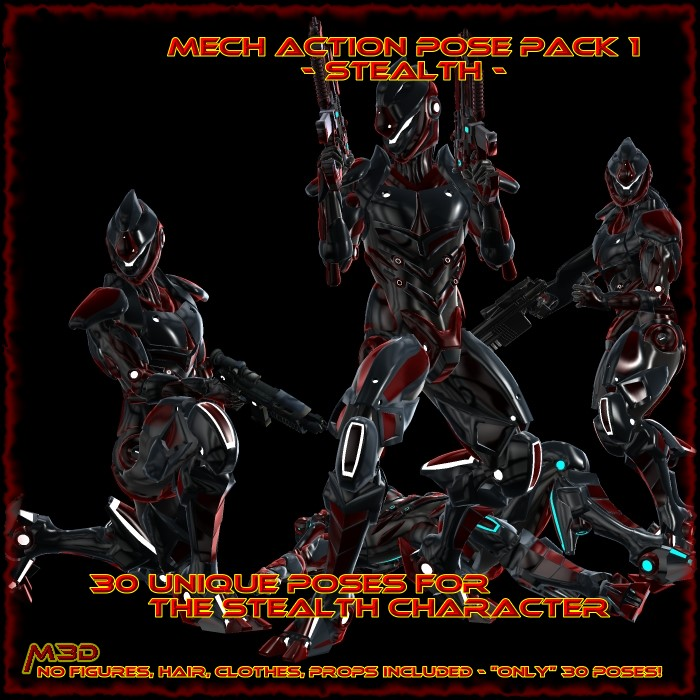 StealthMech Action Pose Pack 1