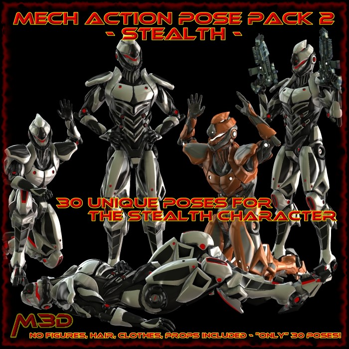 StealthMech Action Pose Pack 2
