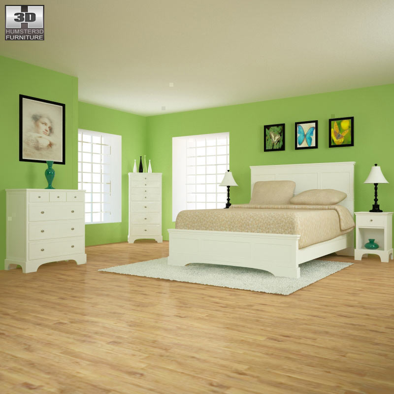 Bedroom Furniture 28 Set - 3D Model