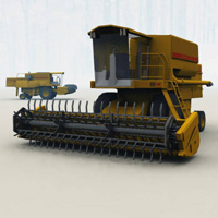Combine Harvester (for Vue) Transportation Props/Scenes/Architecture Themed Digimation_ModelBank
