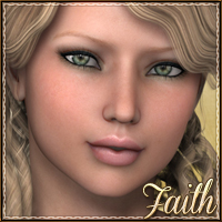 Sabby-Faith for V4 and Genesis 3D Figure Essentials Sabby