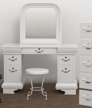 Furniture Set One, Dressing Table 3D Models DreamlandModels
