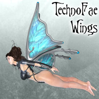 Tech Fae Wings Stand Alone Figures Themed Lyrra