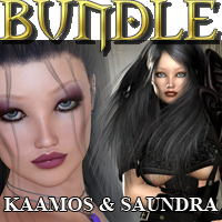 KaaMos & Saundra BUNDLE 3D Figure Essentials Mint3D