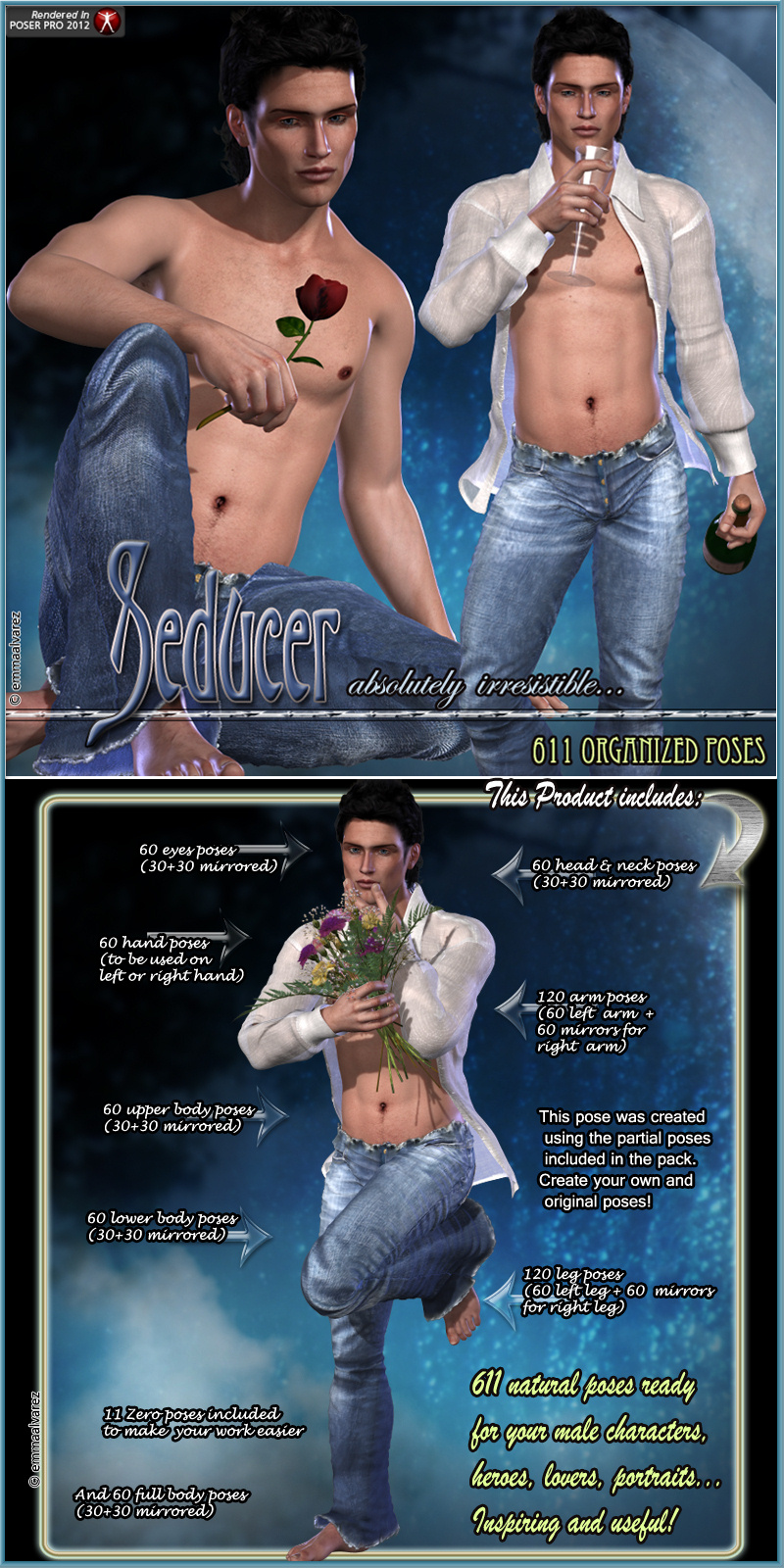 Seducer 611 Organized Poses For M4