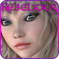 Rebelious V4 Make up 2 MR 2D Graphics 3D Figure Assets rebelmommy