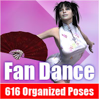 Fan Dance, 616 organized Poses Software Poses/Expressions Themed ile-avalon