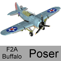 F2A Buffalo (for Poser) Props/Scenes/Architecture Transportation andreasgr