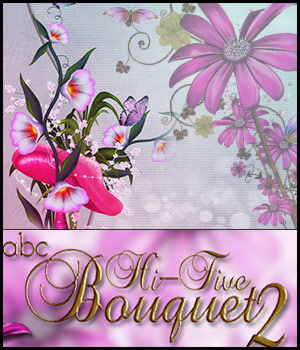 ABC HiFive Bouquet 2 3D Models 2D Bez