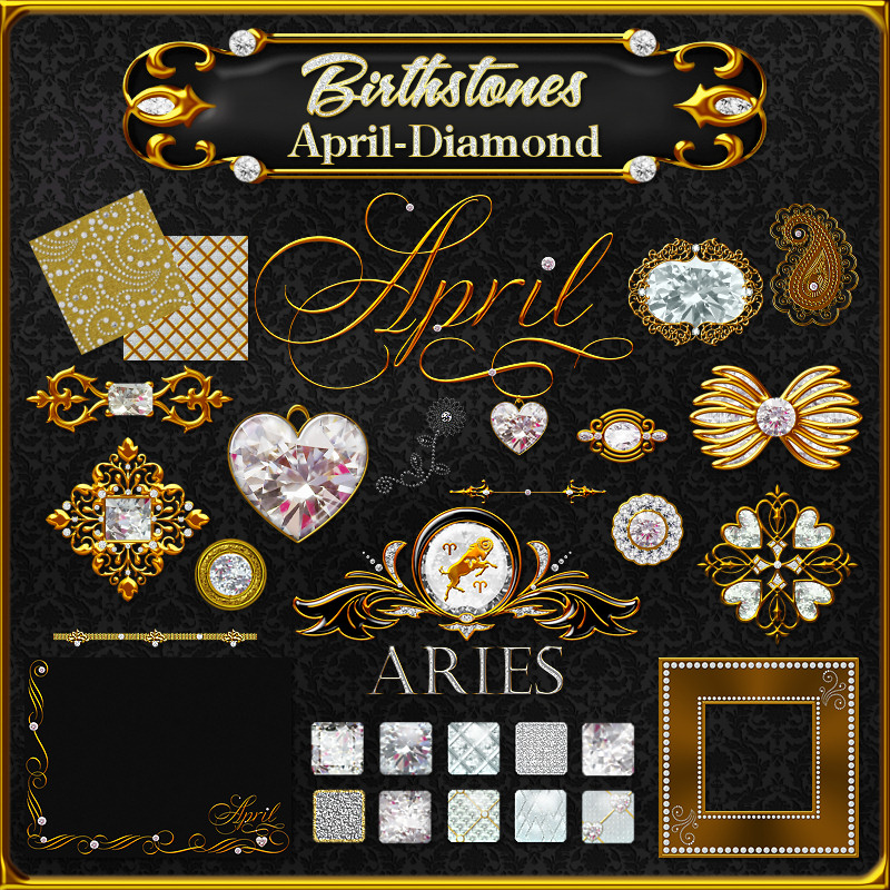 Birthstone Bling!: April-Diamonds