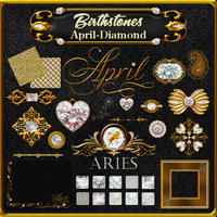 Birthstone Bling!: April-Diamonds Themed 2D And/Or Merchant Resources fractalartist01
