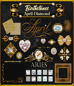 Birthstone Bling!: April-Diamonds 2D Graphics fractalartist01