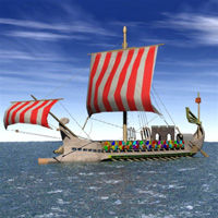 Roman Warship 31 B.C. (for Vue) Transportation Themed Digimation_ModelBank