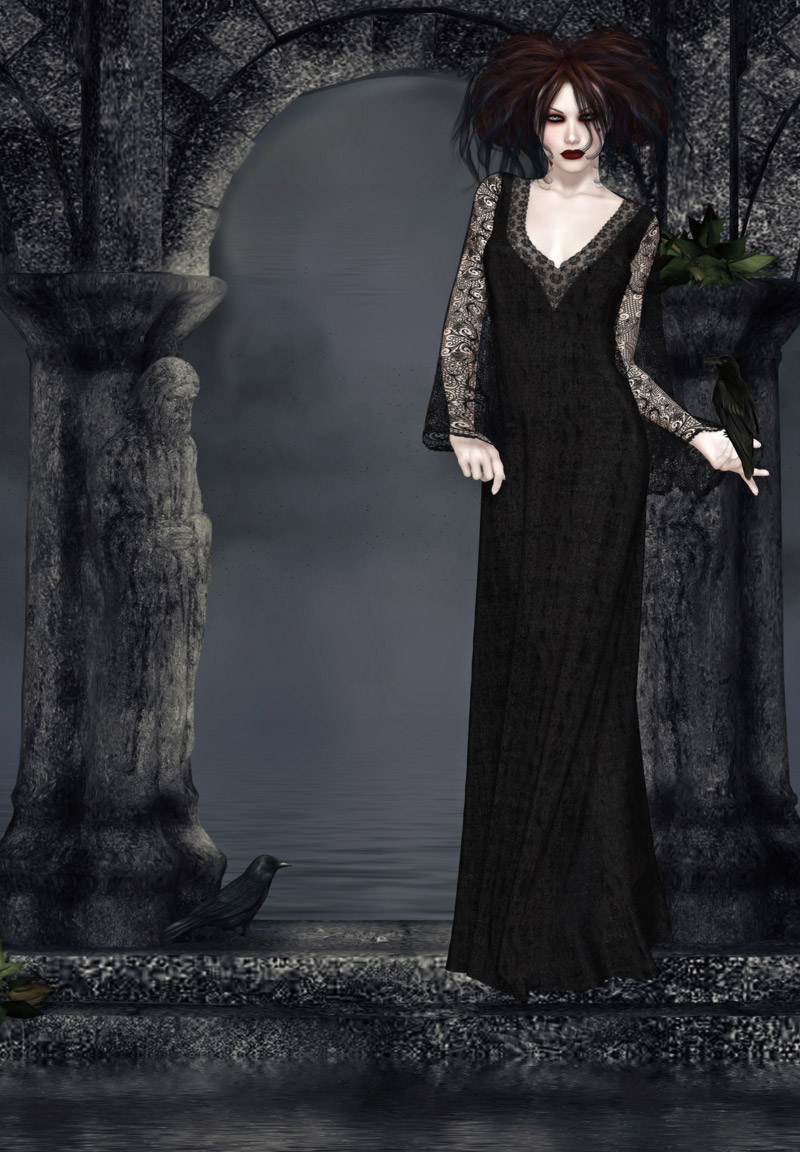 Sombre Dynamic Gowns for V4 by kaleya