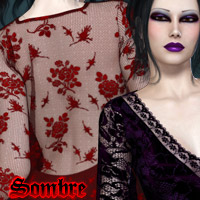 Sombre Dynamic Gowns for V4 Clothing Themed kaleya
