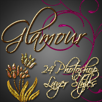 Glamour - 24 Photoshop Layer Styles 2D And/Or Merchant Resources sorayashams