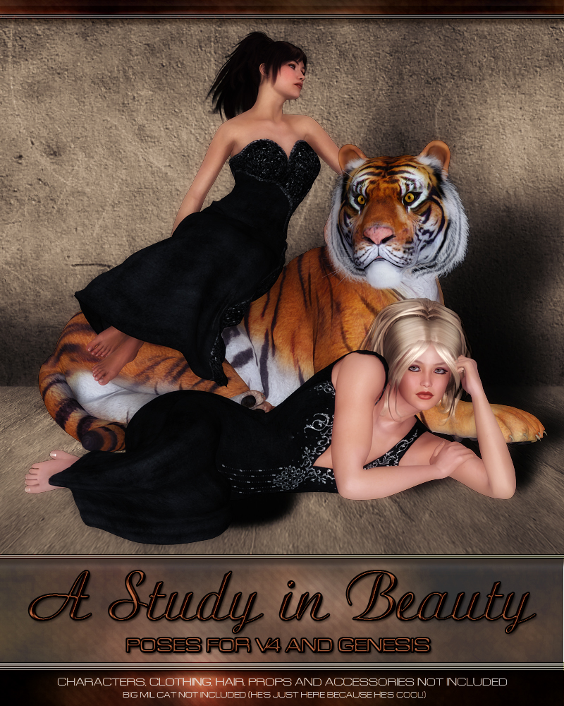 A Study in Beauty - Poses for V4 and Genesis by vyktohria