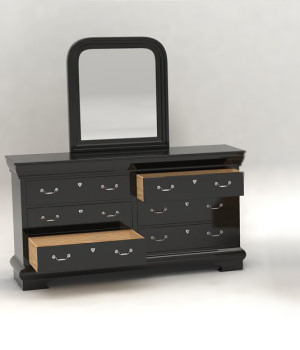 Furniture Set One, Long Dresser 3D Models DreamlandModels