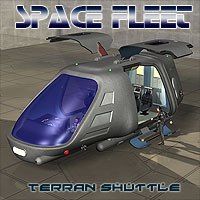 Space Ship Terran Shuttle Transportation Themed Simon-3D