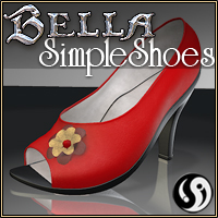 Bella: SimpleShoes 3D Figure Assets CJ-studio