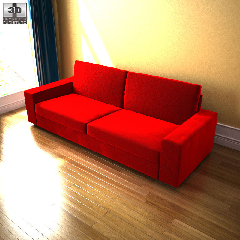 Sofa three seat kivik 3d model props scenes architecture for Sofa kivik 3 plazas