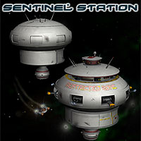 Space Sentinel Station Props/Scenes/Architecture Themed Simon-3D