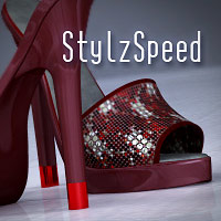 Stylz Speed Shoes 3D Figure Assets PureEnergy
