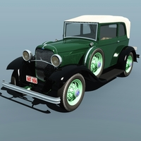 Clyde Barrow's Ford B 400 Sedan Convertible ( for Vue ) 3D Models 3DClassics