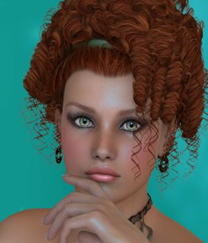 Liliane Hair for V4 3D Figure Assets SWAM