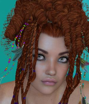 Liliane Hair Extensions 3D Figure Assets SWAM