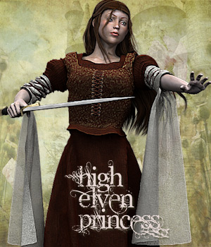 High Elven Princess 3D Figure Assets Tipol