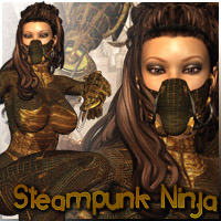 Steampunk Ninja Clothing Accessories Themed Poses/Expressions Darkworld