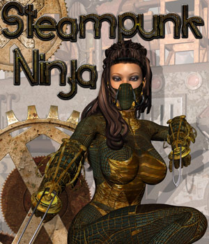 Steampunk Ninja 3D Figure Assets 3D Models Darkworld