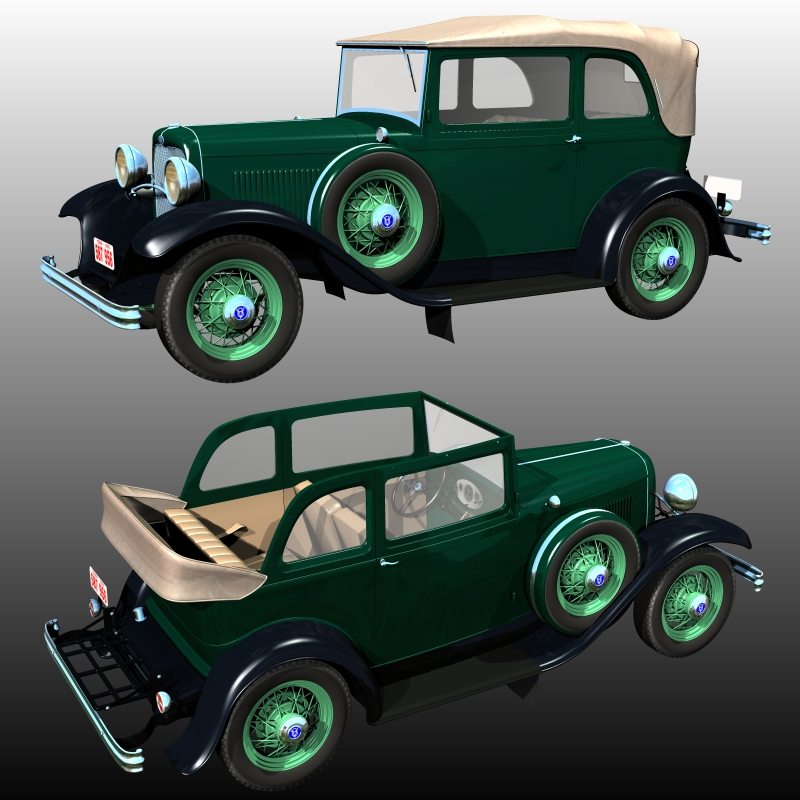 Clyde Barrow's Ford B 400 Sedan Convertible (for Poser )