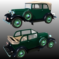 Clyde Barrow's Ford B 400 Sedan Convertible (for Poser ) 3D Models Nationale7