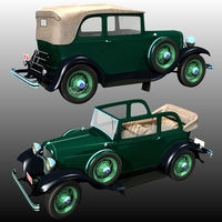 Clyde Barrow's Ford B 400 Sedan Convertible (for Poser ) image 1