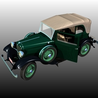 Clyde Barrow's Ford B 400 Sedan Convertible (for Poser ) image 2