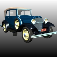 Clyde Barrow's Ford B 400 Sedan Convertible (for Poser ) image 5