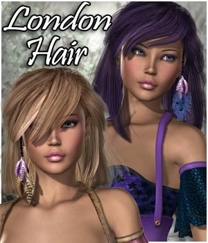 London Hair V4, A4, G4 & Aly2 3D Figure Assets RPublishing