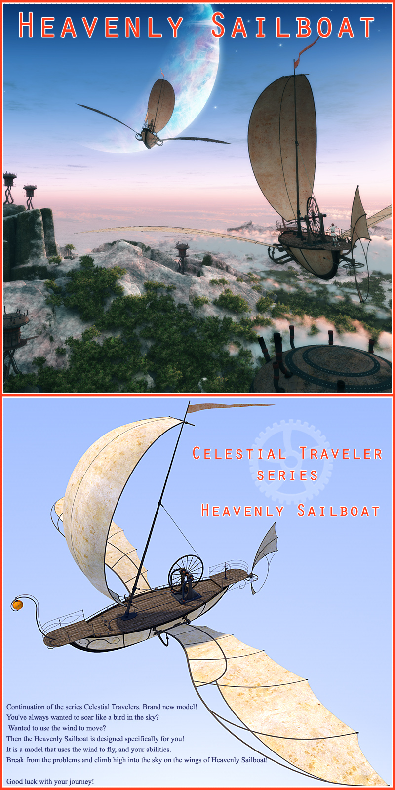 Heavenly Sailboat