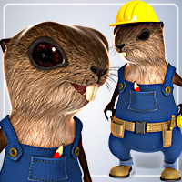 Beaver for DAZ Studio 4 3D Models smay