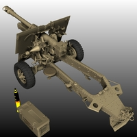 HOWITZER 25 PDR BUNDLE ( for Poser ) 3D Models Nationale7