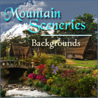 Mountain Sceneries 3D Models 2D -Melkor-
