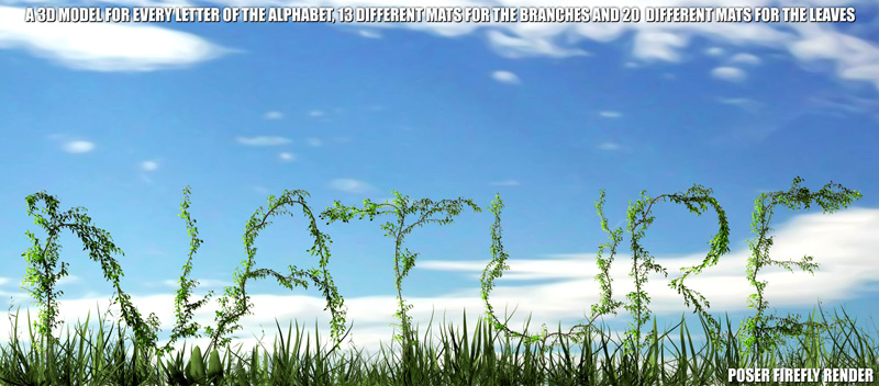 Alphabet Vegetation